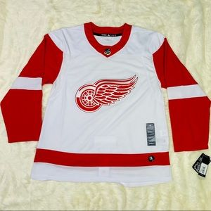 New Adidas Detroit RedWings Authentic Away Jersey